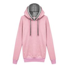 2016 Winter Women Warm Hoodies Basic Pullovers Solid Sweatshirts Plus Size