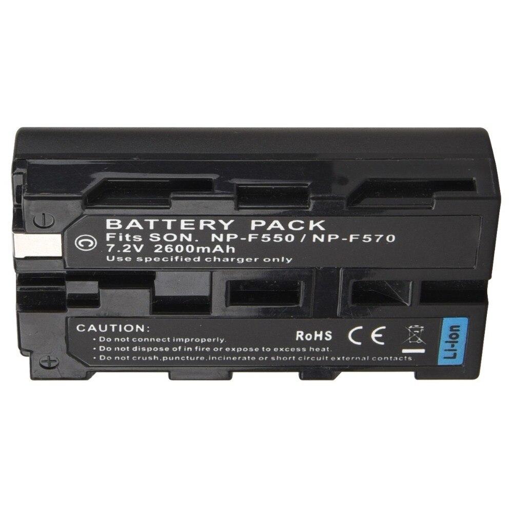 1Pc 7.2V 2600mAh NP-F550 NP F550 NP-F570 Rechargeable Digital Camera Bateria battery Pack For Sony NP-F550 NP-F570 Battery зарядное устройство для фотокамеры esydream uk eu sony np f330 np f550 np f570 np f750 np f770 np f550