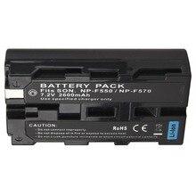 1 шт. 7.2 В 2600 мАч NP-F550 NP F550 NP-F570 Перезаряжаемые цифровой Камера Bateria Батарея пакет для Sony NP-F550 NP-F570 батарея