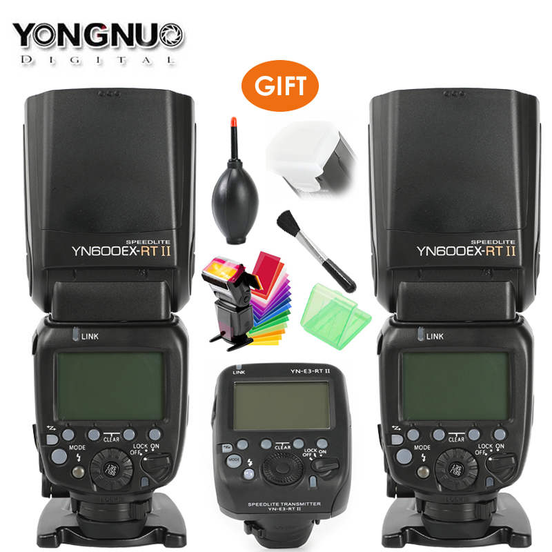 Updated YONGNUO YN600EX-RT II Auto TTL HSS Flash Speedlite +YN-E3-RT Controller for Canon 5D3 5D2 7D Mark II 6D 70D 60D + Gift