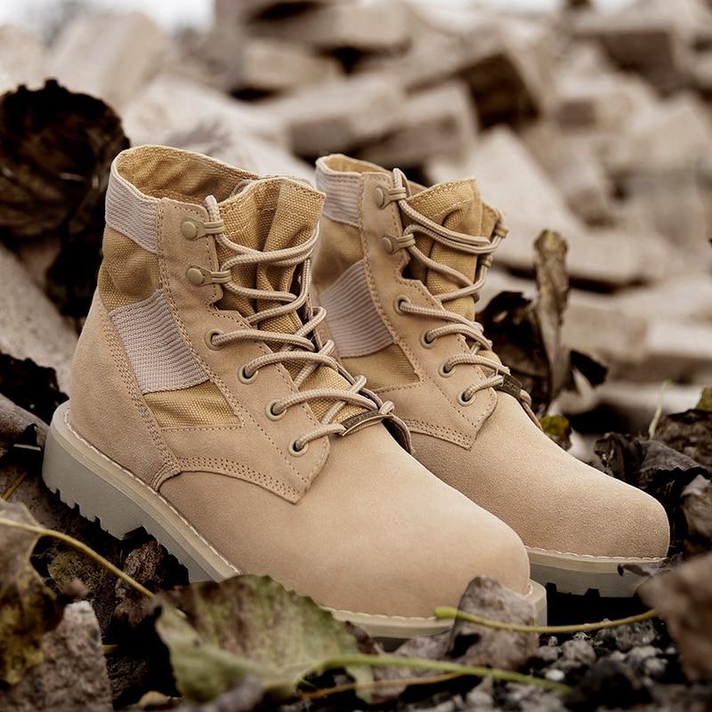 Désert Tactico Hommes Automne Chaussure Tactique Militaire Printemps Cheville Sandy Combat Chaussures Homme Armée Moto Bottes Botas qRxfAwF