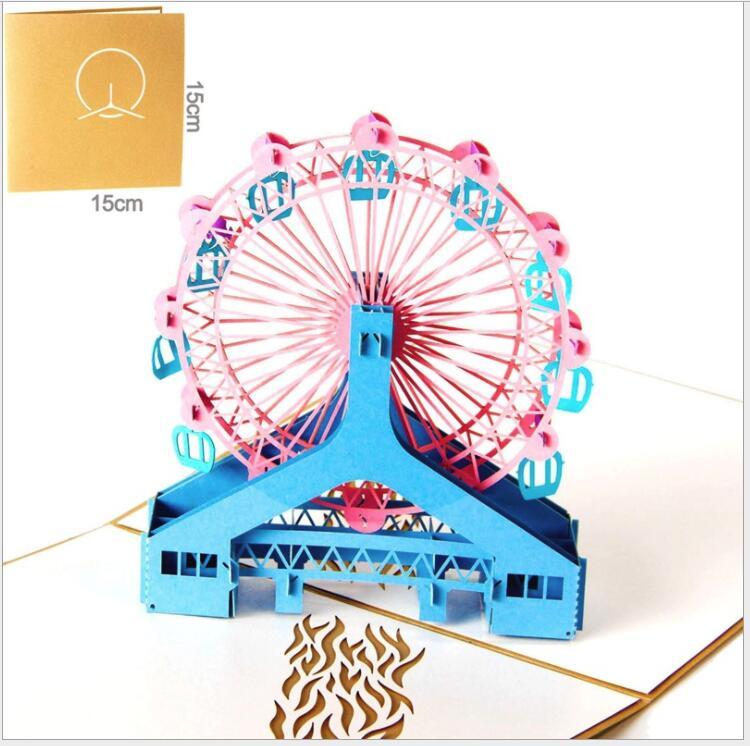 2018 arrivée enfants carte d'anniversaire 3D voiture pliante Type carte enfants carte d'invitation d'anniversaire