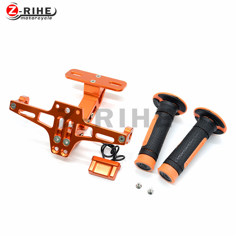 Universal Fender Eliminator License Plate Bracket Ho Tidy Tail and off-road vehicle handle grips for ktm 250XC 250XC-F 250XCF-W motorcycle tail tidy fender eliminator registration license plate holder bracket led light for ducati panigale 899 free shipping