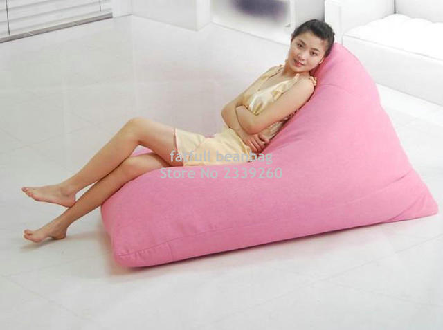 Cover Only No Filler Rose Pink Modern Back Support Floor Chair Adult Puff Bean Bag