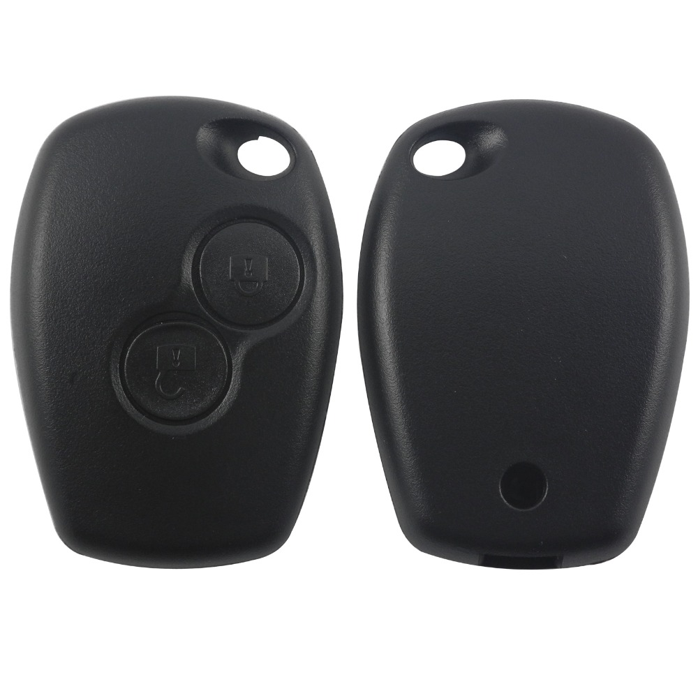 2 Buttons Car Key Shell Remote Fob Cover Case Blank Fob For Renault Dacia Modus Clio 3 Twingo Kangoo 2 No With Blade