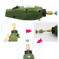 New Brand Super Mini Green Electric Grinding Set 12V DC Drill Grinder Tool For Milling Polishing