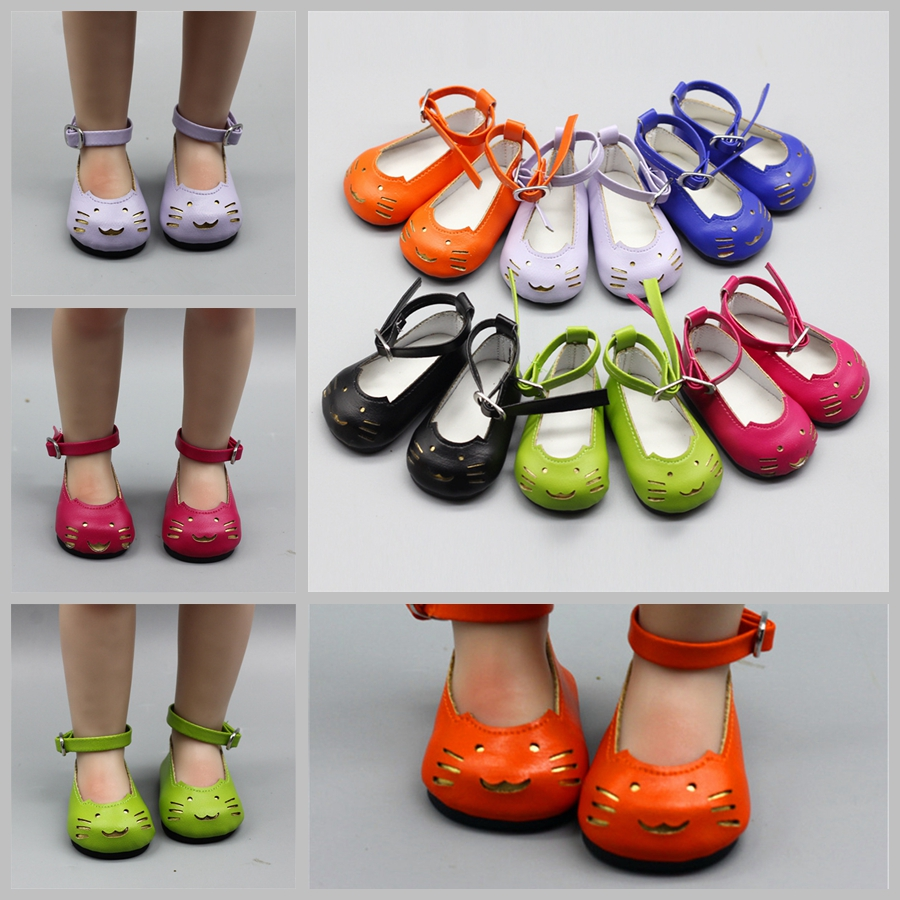 Doll Accessories 7cm Cute Cat Mini Dolls Shoes for 43cm Reborn Bebe 18 inch Girl Aslo 1/3 BJD Shoe