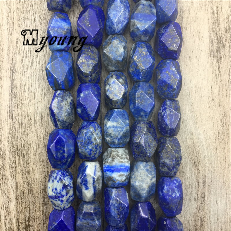 Lazurite Faceted Beads,lapis lazuli Nugget Beads,Gem Stone Drilled Beads For DIY Jewelry MY1567