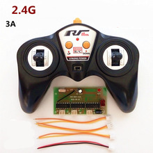 1Set 6 Channel 2.4GHZ DC3-4.8V Receiver Module+Transmitter Controller for DIY RC Boats 100 Meter Wireless Con