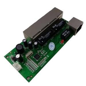 Image 4 - OEM ミニスイッチミニ 5 ポート 10/100 mbps ネットワークスイッチ 5 12 v ワイド入力電圧スマートイーサネット pcb rj45 モジュール led 内蔵