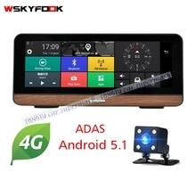 """4 г ADAS Видеорегистраторы для автомобилей Камера GPS 7.84 """"Android 5.1 Автомобиль Центральной Консоли dashcam регистратор с Двойной объектив BT GPS навигации"""