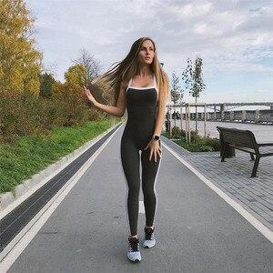Image 2 - Mono deportivo para mujer, conjunto de Yoga femenino, ropa deportiva Sexy para entrenamiento, ropa de gimnasio, chándal para correr, 1 unidad