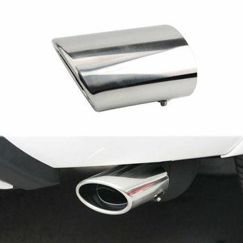 1x tubo de extremo del silenciador de escape trasero de cromo de acero inoxidable para Toyota RAV4 2009-2013
