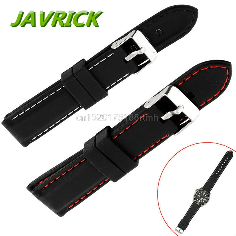 2 0 Mm Bands: Free Delivery Mens Boys Silicone Rubber Watch Straps Bands