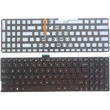 Клавиатура US для ноутбука ASUS K501 K501U K501UB K501UQ K501UW K501UX K501L K501LB K501LX A501L A501LB A501LX с подсветкой