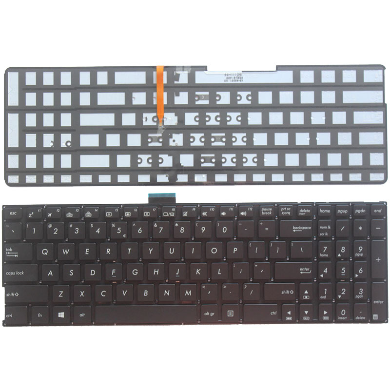 US Keyboard for <font><b>ASUS</b></font> K501 K501U K501UB K501UQ K501UW <font><b>K501UX</b></font> K501L K501LB K501LX A501L A501LB A501LX laptop With backlight image