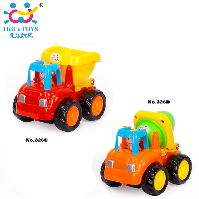 6pclot baby toy push and go friction powered car toys mixer truck and dumper