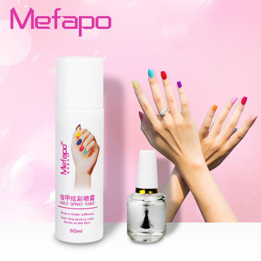 2 teile/satz Pro styles perfekte 60 ML nagellack spray + basis mantel einfach zu waschen spray nagellack schnell trocknende 2017 nagellak