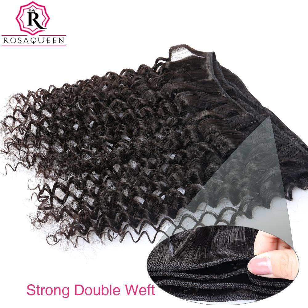 Globoko valovanje brazilskih lasnih las, 100% človeški lasje za - Človeški lasje (za črne) - Fotografija 6