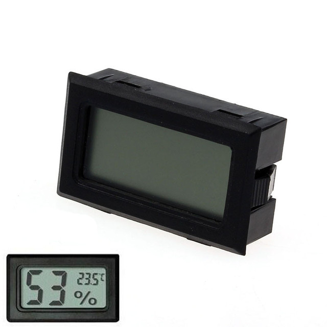 Mini cyfrowy LCD termometr higrometr kryty odkryty wysokiej jakości termometr cyfrowy samochodów z czujnik zdalnego sterowania