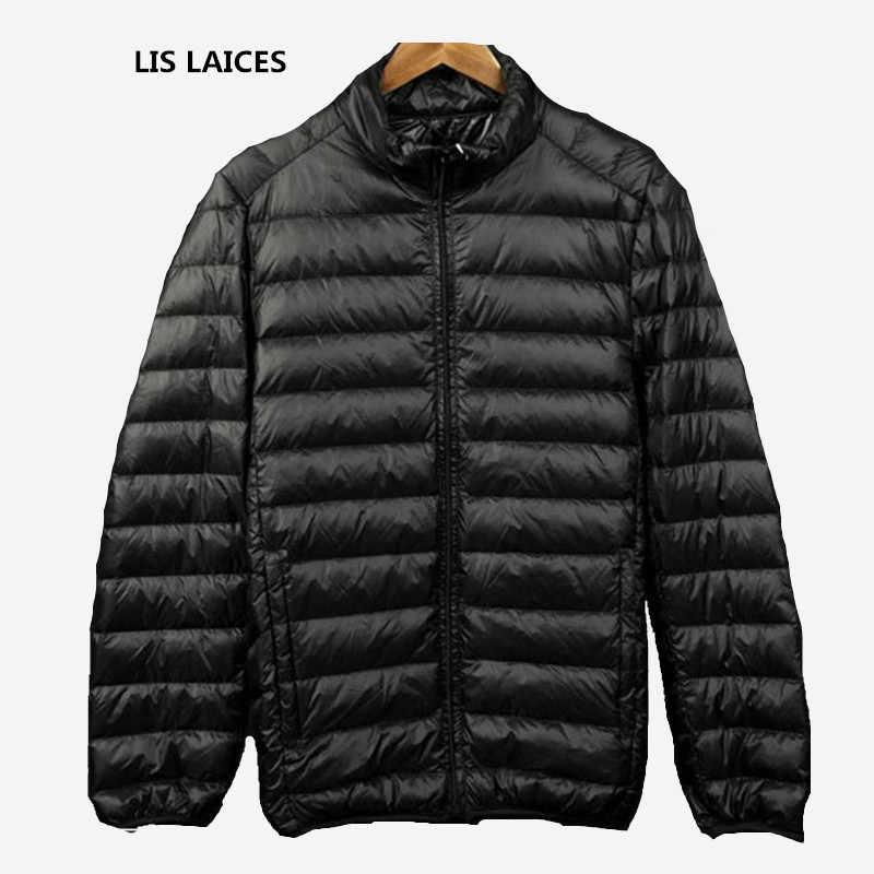 ブランド2018新しい男性冬90%白いアヒルダウンジャケットコートライト薄いカジュアルコートパーカードレスジャケットm-3xl