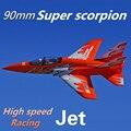 FMS 90 мм супер Scorpion воздуховод вентилятор EDF Jet 6S 7CH с закрылками втягивается EPO высокая скорость PNP модель самолёта на радиоуправлении Хобби са...