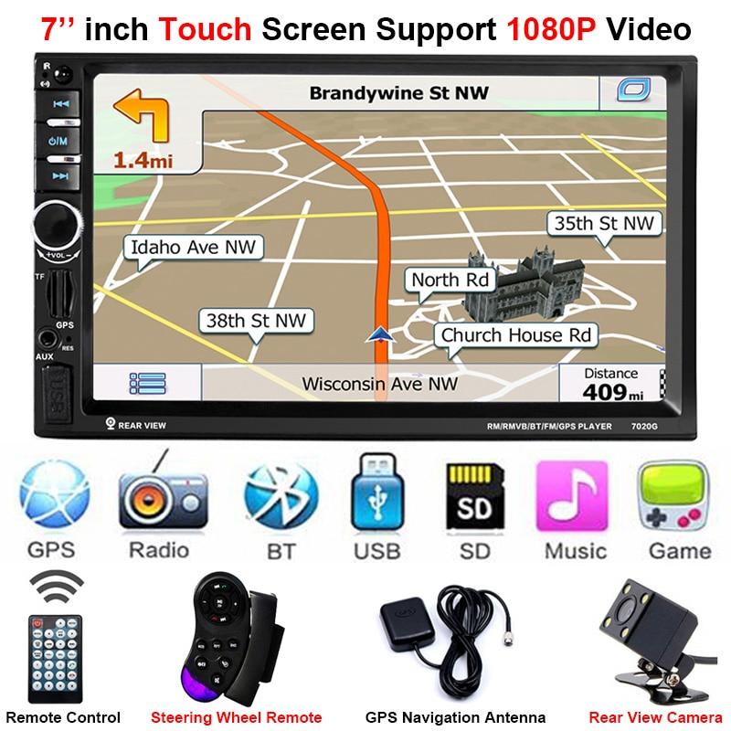 2Din GPS Hinten Kamera Zentrale Multimidia 2 Din 7 ''Bluetooth MP5 MP3 Musik Video Player Multimedia Radio Autoradio Spiegel link