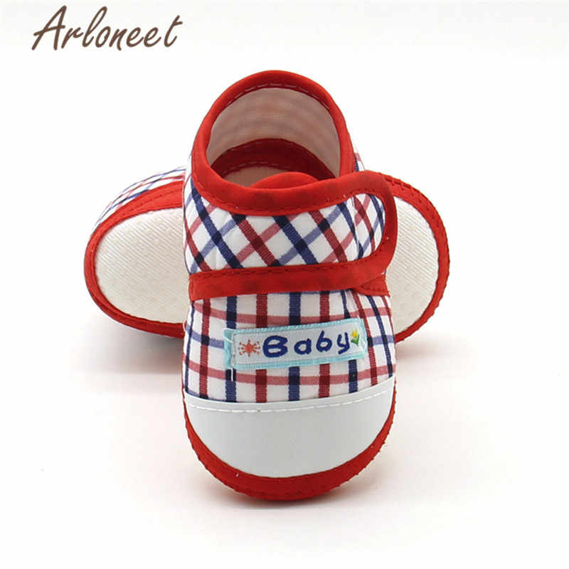 ARLONEET 2019 เด็กเด็กหญิงเด็กหญิงผ้าฝ้ายผ้า Canvas Anti-slip รองเท้า Pliad พิมพ์รองเท้าผ้าใบ Toddle เด็กน่ารักผ้ารองเท้า