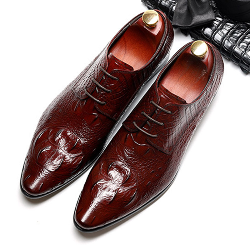 Mens formal shoes leather oxford shoes for men dressing wedding men s brogues office shoes lace