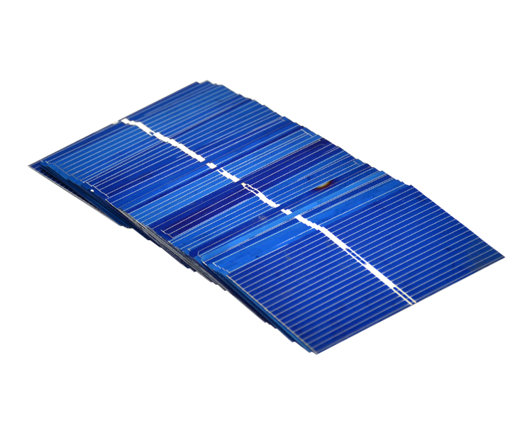 Aoshike 100Pcs Solar Panel Solar Cell 0.5V 0.27W Color Crystal Module DIY Solar Battery Charger 52x31.2MM Power Bank China 8