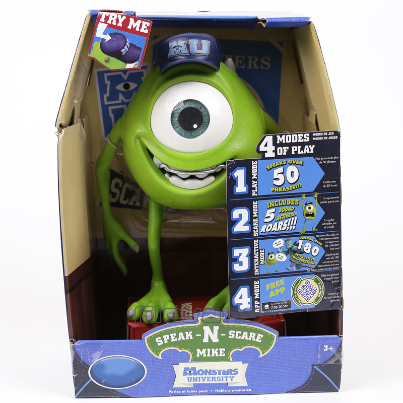 Monsters Inc Monsters University Mike Wazowski / Squishy Speak and Scare PVC Figure Toy Gift 25cm romping monsters stomping monsters