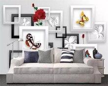 3D Murals Butterfly Fashion Wallpaper