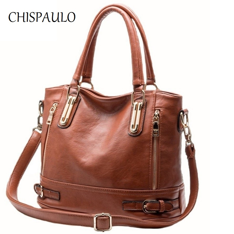 CHISPAULO 2017 Brand Designer Women Genuine Leather Handbags Vintage Lady Bags For Women's shoulder crossbody Messenger Bags X18 chispaulo luxury brand women genuine leather handbags designer female crossbody bag fashion women s shoulder bags lady bags x21