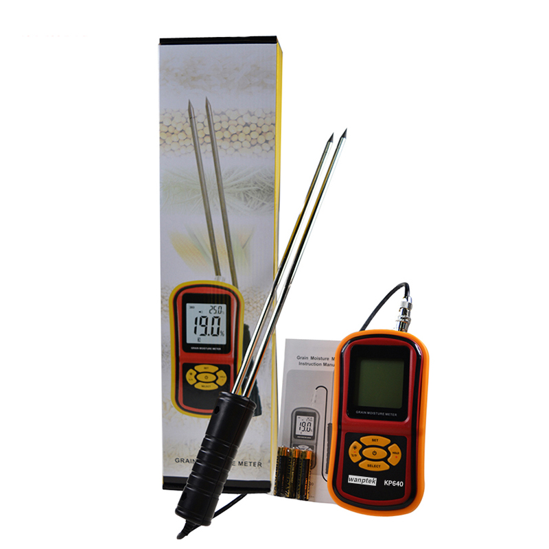 Digital Grain Moisture Meter with Measuring Probe Portable LCD Hygrometer Humidity Tester for Corn Wheat Rice Bean Wheat 4 8 days arrival lb92t portable sweetness tester brix meter with measuring range 58 92