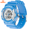 HOSKA Mens Military Watch Children Sport Popular Brand HOSKA Analog Quartz LED Outdoor Waterproof Digital Watches For Kids