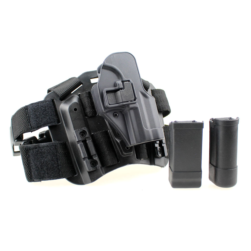 US $42 13 |Tactical USP Leg Holster Right Hand Paddle Thigh Belt Drop  Pistol Gun Holster with Magazine Torch Pouch for H&K USP-in Holsters from  Sports