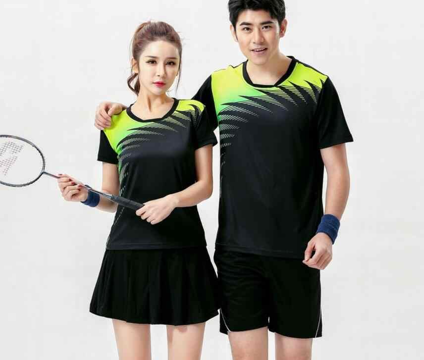 Nuevos conjuntos de ropa deportiva de voleibol para hombre, pantalones cortos de tenis de mesa de secado rápido de poliéster, Camiseta deportiva de tenis, mujeres bádminton camisetas