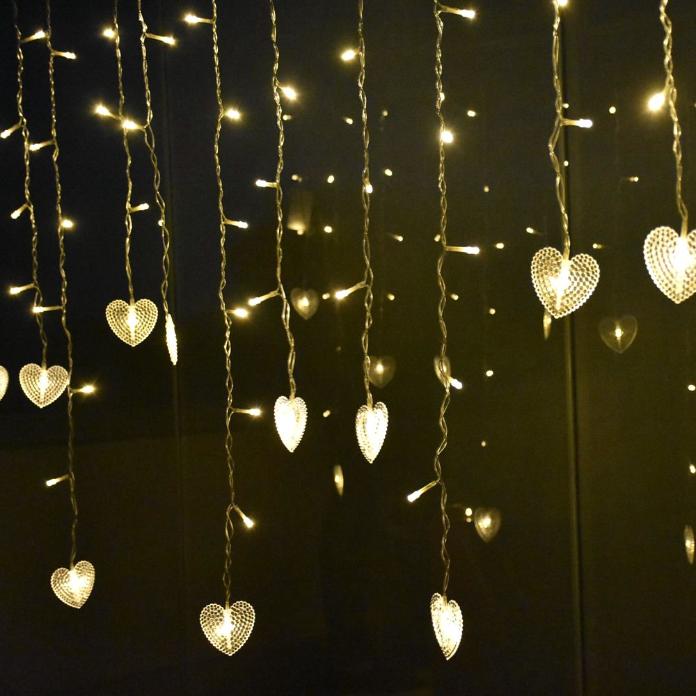Snowflake Star Curtain Led String Lights 4.5m 96leds droop 0.4-0.6m Icicle Fairy Lights Wedding Party Garland Decoration Light