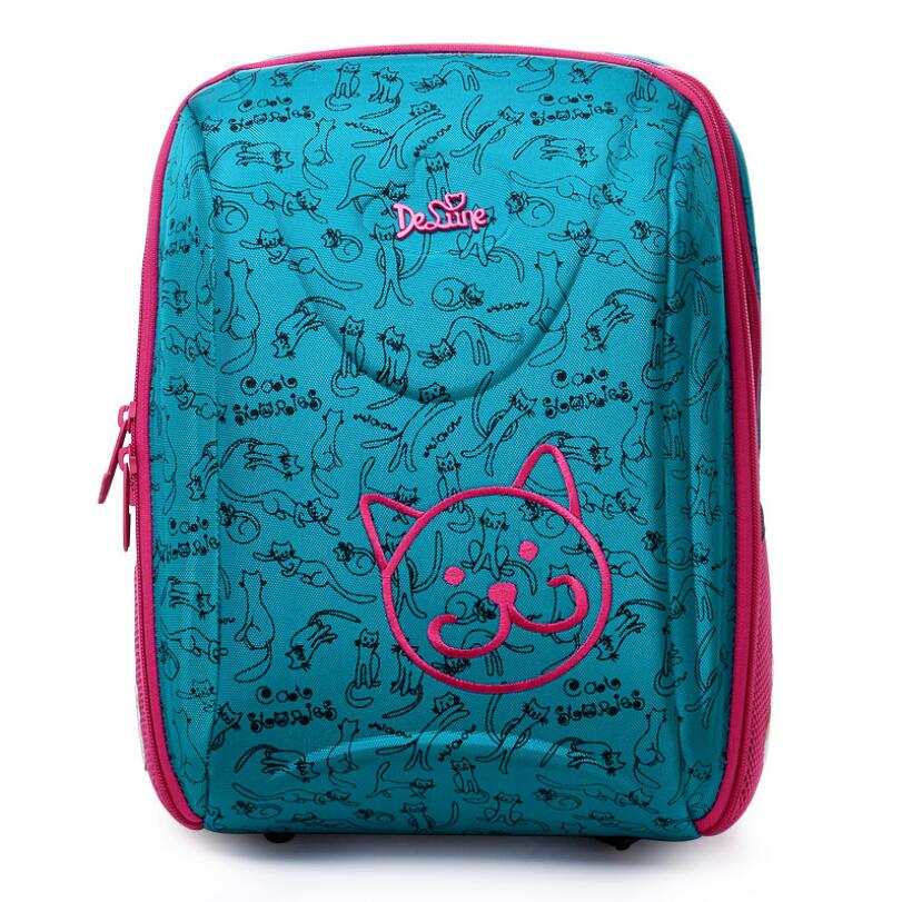 Delune Orthopedic Backpack Kids Cartoon Love Waterproof Schoolbag High Quality Children Girls Boys School Bags 2016 high quality orthopedic camouflage school bag for boys girls red children waterproof backpack burden school book bags