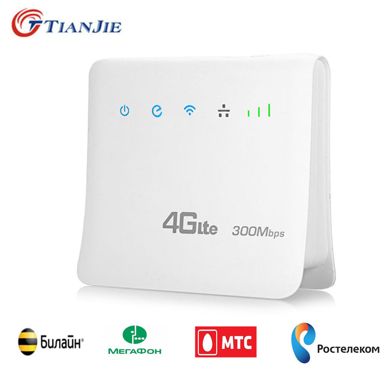 Indoor 300Mbps 4G LTE CPE Wifi Routers FDD TDD Broadband Mobile Routers Hotspot Wireless modems with SIM card Slot RJ45 LAN Port