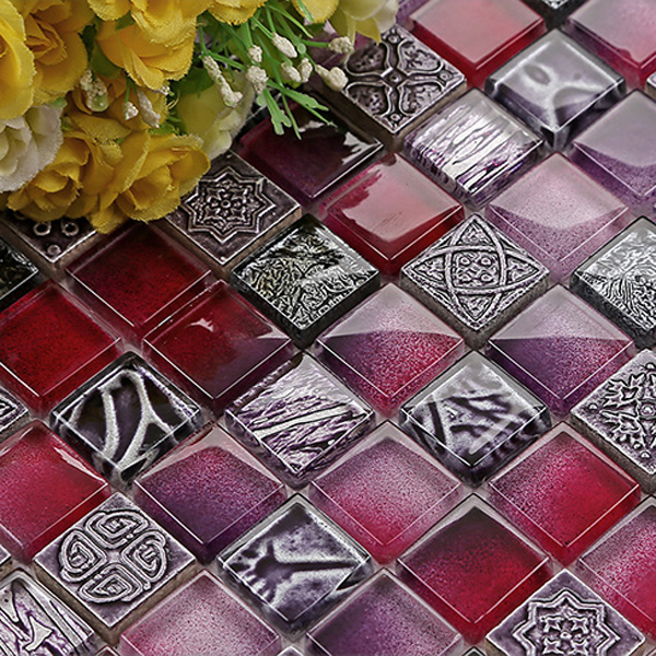 Glass Tile Direct Purple Mosaic Kitchen Tiles Modern Bathroom Tile
