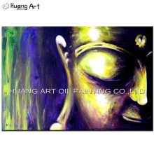 100%Hand-painted Top Quality Buddha Oil Artwork On Canvas Skill Artist Handmade Modern Abstract Portrait Painting