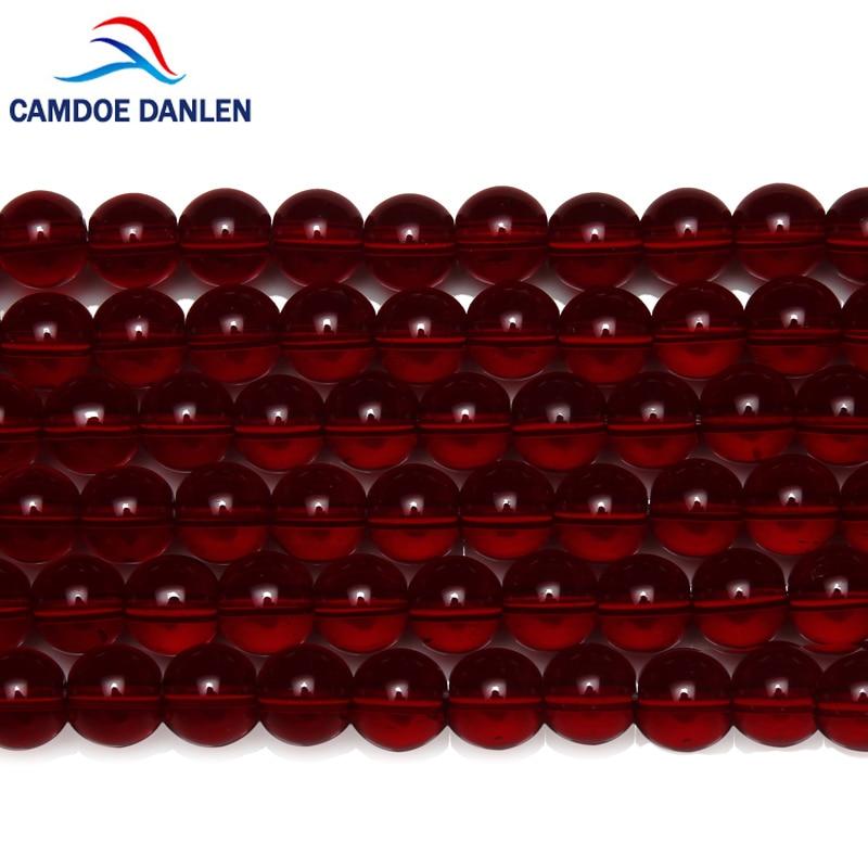 CAMDOE DANLEN натуральный камень Гладкий гранат хрустальный стакан круглый бусины 6 8 10 12 мм выбрать размер подходит Diy Бисер для изготовления ювелирных изделий|loose beads|beads for jewelry makingdiy beads | АлиЭкспресс
