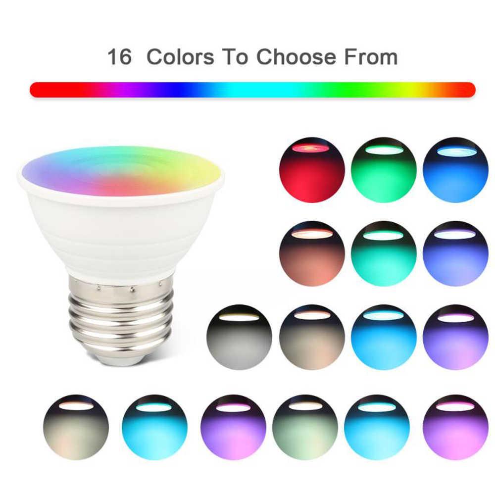 Bombilla RGB RGBW de 16 colores luz LED de noche de Navidad E27 GU10 MR16 5W foco para lámpara LED + 24 teclas decoración remota del hogar regalo creativo