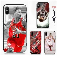 0eb42d03354 Omdnwd Jimmy Butler Mobile Soft TPU Frame Tempered Glass Cases For Apple  iPhone X XS Max