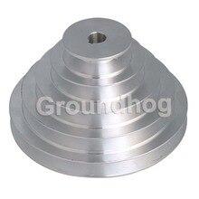אלומיניום 5 צעד סוג V חגורת פגודה גלגלת Outter Dia 54 150mm (חור קוטר 14mm 16mm 18mm 19mm 20mm 22mm 24mm 25mm 28mm)