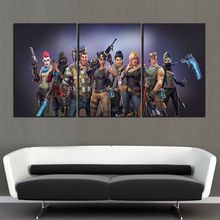 3 Piece GAMING Poster on Canvas for Home Decor F3V2