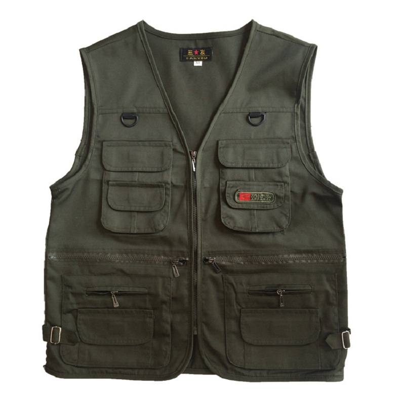 Fashion Fisherman Tactical Military Photographers Vest Director Clothes Brand Casual Vest Breathable Multi Pocket Style