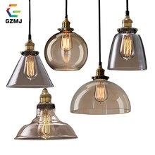 GZMJ винтажные Ретро Стеклянные подвесные лампы свет Nordic Hanglamp домашний декор кухня подвесные светодио дный светильники Abajur подвесные лампы