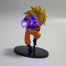 Dragon Ball Z Son Goku DIY Display Led Light Goku Kamehameha 150mm Anime Dragon Ball Super Saiyan Action Figure Table Lamp
